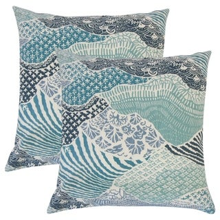 Set of 2  Vaughan Ikat Throw Pillows in Indigo