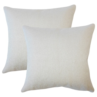 Set of 2  Winslow Solid Throw Pillows in Sesame