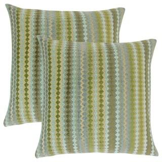 Set of 2 Kawena Geometric Throw Pillows in Lake