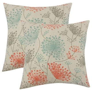 Set of 2  Danessa Floral Throw Pillows in Laken