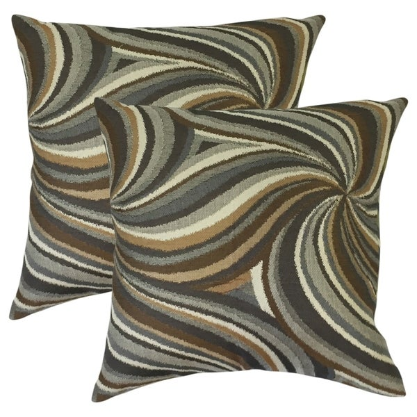Set of 2 Xarissa Graphic Throw Pillows in Amber