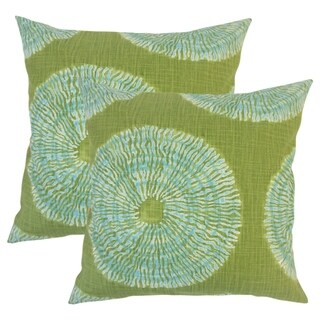 Set of 2 Talmai Ikat Throw Pillows in Seaglass