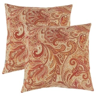 Set of 2  Vilette Paisley Throw Pillows in Bittersweet