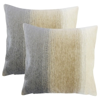 Set of 2  Vasska Ombre Throw Pillows in Charcoal