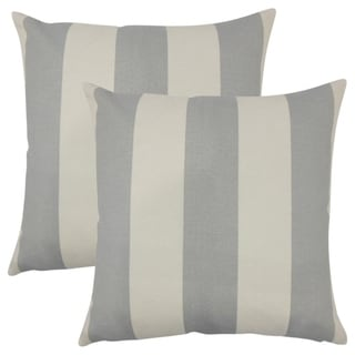Set of 2  Kanha Striped Throw Pillows in Gray Beachwood