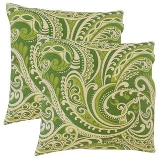 Set of 2  Natashaly Damask Throw Pillows in Kelly