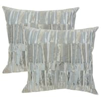 Set of 2  Prunella Stripes Throw Pillows in Grey