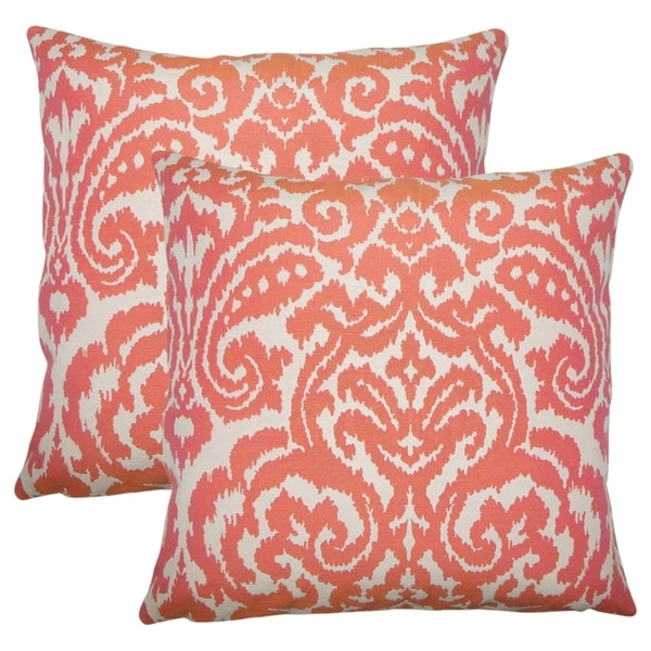 Set Of 2 Wafai Ikat Throw Pillows In C On Free Shipping Today 18156881