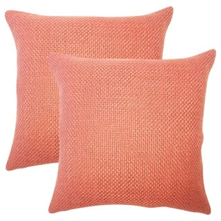 Set of 2  Xabier Solid Throw Pillows in Cinnamon
