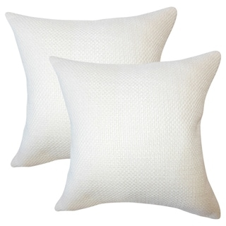 Set of 2  Xabier Solid Throw Pillows in Antique White