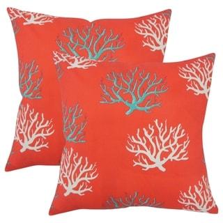 Set of 2  Gyan Coastal Throw Pillows in Calypso