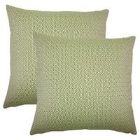 Set of 2  Pandor Geometric Throw Pillows in Jungle