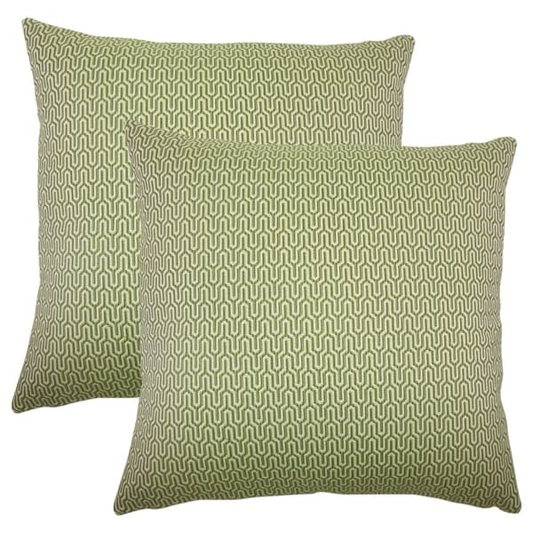 Set of 2 Pandor Geometric Throw Pillows in Jungle