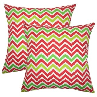 Set of 2 Howel Zigzag Throw Pillows in Lipstick