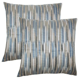 Set of 2  Oceane Striped Throw Pillows in Shore