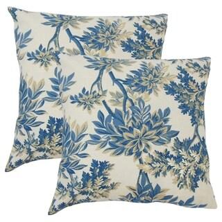 Set of 2  Zafirah Floral Throw Pillows in Calypso