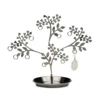 Handcrafted Vana Devata Jewelry Stand - Blackened Silver (India)