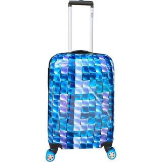 ATM Luggage 3-D Blue 26-inch Hardside Spinner Upright Suitcase