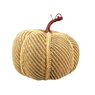 "8"" Tweed Fabric Pumpkin"