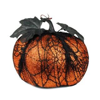 Orange Glitter Black Lace Pumpkin