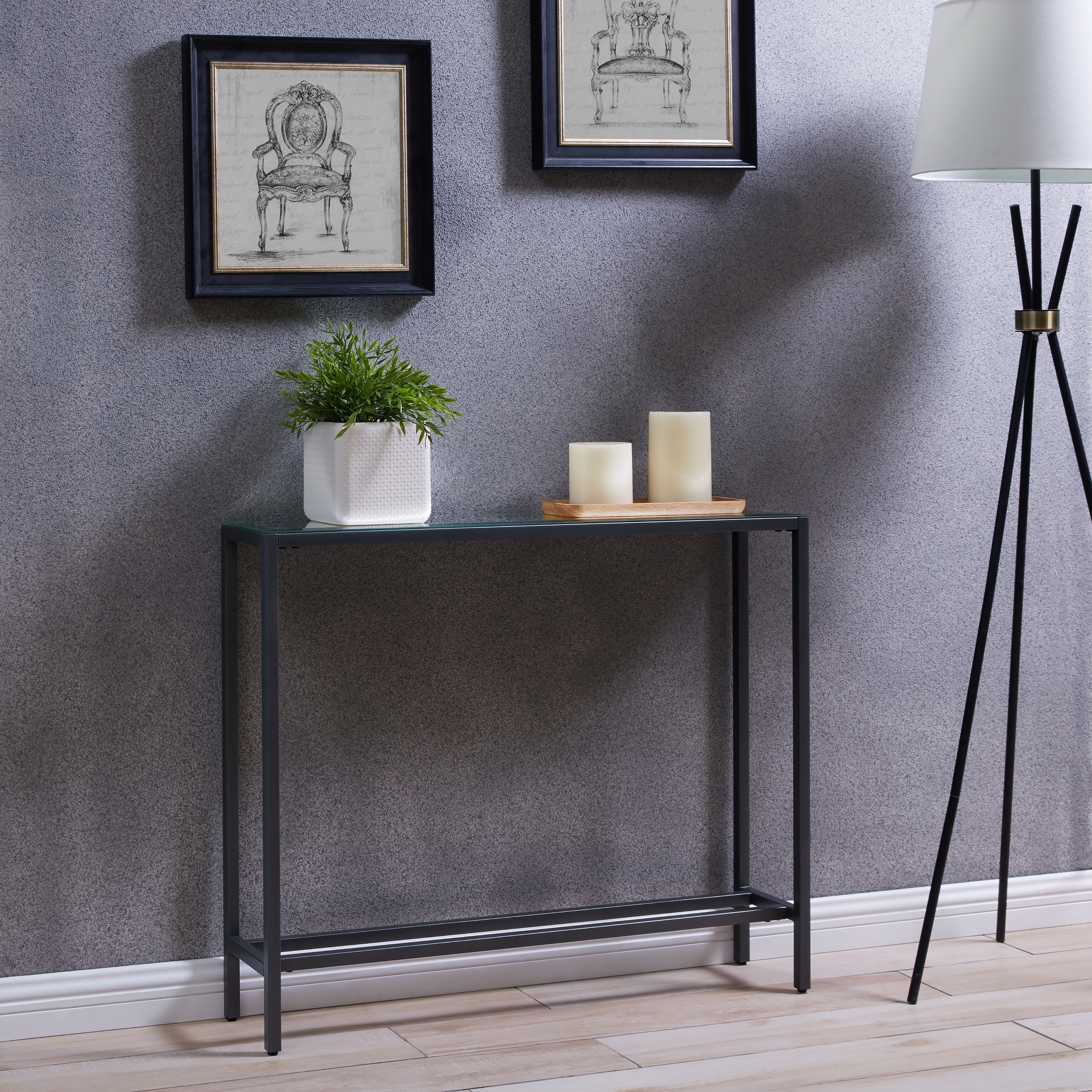 Shop Harper Blvd Dunbar Narrow Console Table W/ Mirrored Top   Gold   On  Sale   Free Shipping Today   Overstock   18157315