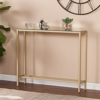 Harper Blvd Dunbar Narrow Console Table w/ Mirrored Top - Gold