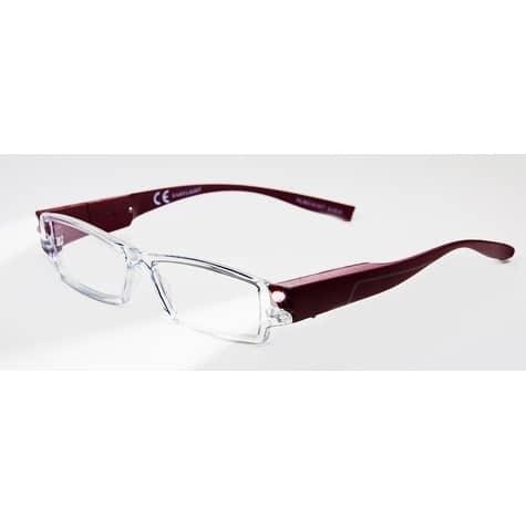 Multi Strength Eyeglass LED Reading Glasses LRG Eggplant Optic by Finess