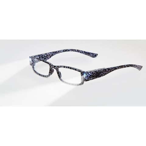 Multi Strength Eyeglass LED Reading Glasses LG Grey Tiger Optic By Finess