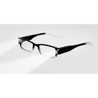 Multi Strength Eyeglass LED Reading Glasses LG Black Optic By Finess
