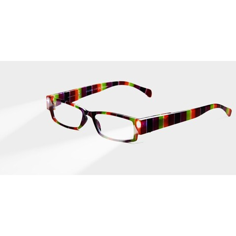 Multi Strength Eyeglass LED Reading Glasses LG Rainbow Optic By Finess