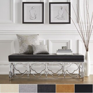 Bryn Chrome Quatrefoil Base Bench by iNSPIRE Q Bold
