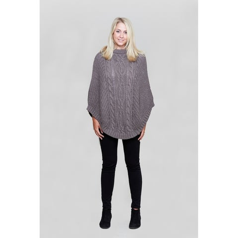 Le Nom Chunky Cable Knit Poncho