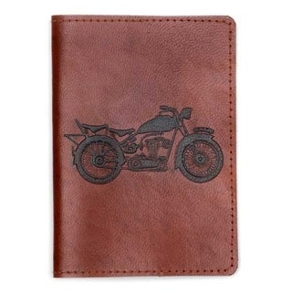 Handcrafted Open Road Leather Passport Cover (India)
