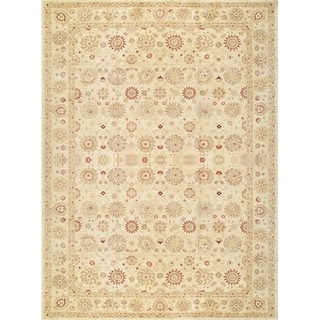 """Pasargad Ferehan Beige Collection Hand-Knotted Wool Rug (14' 0"""" X 19' 0"""") - 14' x 19'"""