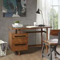 Ink+Ivy Wynn Pecan Rectangle Wood Desk