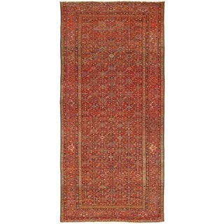 """Antique Malayer Collection Navy/Rust Hand-Knotted Wool Rug (7' 6"""" X 16' 3"""")"""