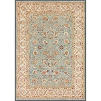 """Pasargad Ferehan Collection Hand-Knotted L.Blue/Ivory Wool Rug (9' 7"""" X 13'11"""")"""