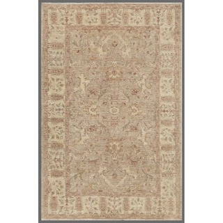 """Grey/Beige Pasargad Ferehan Collection Hand-Knotted Wool Rug (6' 1"""" X 9' 1"""") - 6' x 9'"""