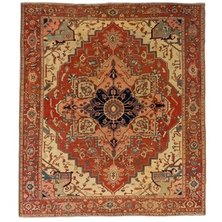 """Pasargad Antique Serapi Collection Hand-Knotted Wool Area Rug (10' 3"""" X 11' 7"""") - 10' x 12'"""