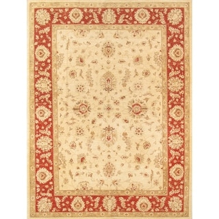 """Pasargad Sultanabad Ivory/Rust Collection Hand-Knotted Wool Rug (8'10"""" X 11'10"""") - 9' x 12'"""