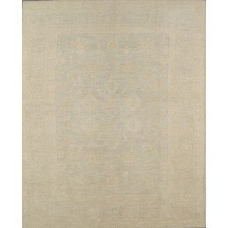 """Pasargad Oushak Collection L.Gray Hand-Knotted Wool Rug (9' 8"""" X 11'11"""") - 10' x 12'"""