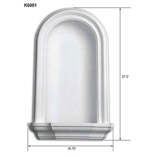 Decorative In-Wall 27.5-inch Niche
