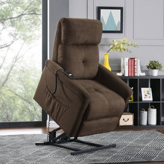 Copper Grove Jessie Brown Microfiber Power Recline and Lift Chair