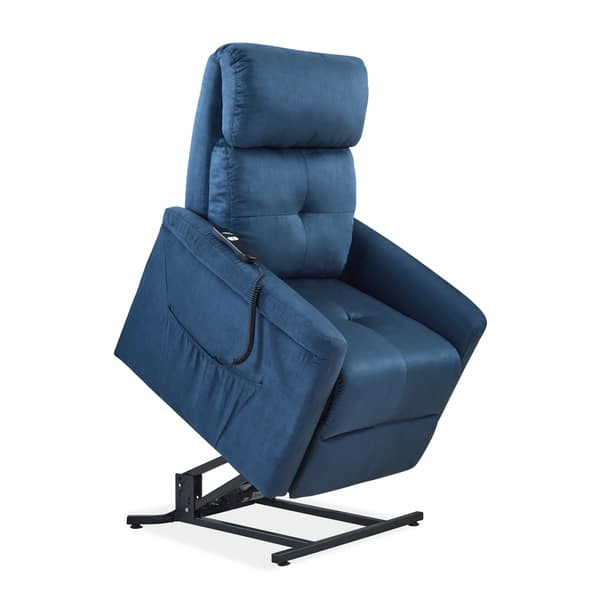 Sensational Shop Copper Grove Polletts Blue Microfiber Power Recline And Pdpeps Interior Chair Design Pdpepsorg