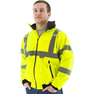 Majestic 75-1301 High Visibility Waterproof Winter Bomber Jacket, Neon Green