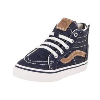 Vans Toddlers Sk8-Hi Zip (Denim C&L) Skate Shoe|https://ak1.ostkcdn.com/images/products/18157648/P24306821.jpg?_ostk_perf_=percv&impolicy=medium