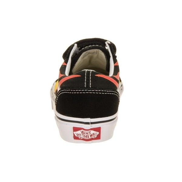 Shop Vans Kids Old Skool V (Flame) Skate Shoe Overstock