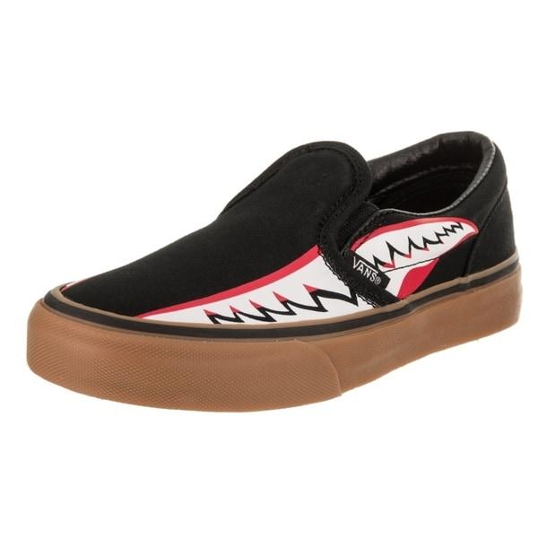 6aa86c933cd5 Shop Vans Kids Classic Slip-On (Bomber Face) Skate Shoe - Free ...