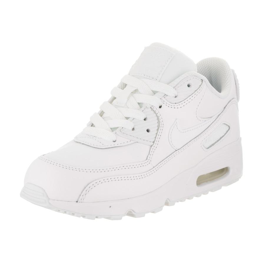 Nike Kids Air Max 90 Ltr (PS) Running Shoe (11.5), Boy's,...