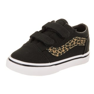 Vans Toddlers Old Skool V (Mini Leopard) Skate Shoe